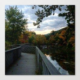 Madam Brett Park in Autumn - Beacon NY Canvas Print