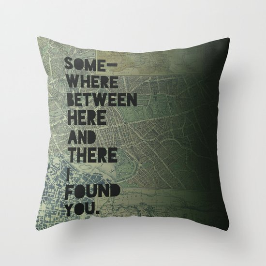 Here & There III Throw Pillow