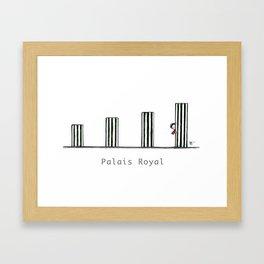 A Few Parisians: Palais Royal by David Cessac Framed Art Print
