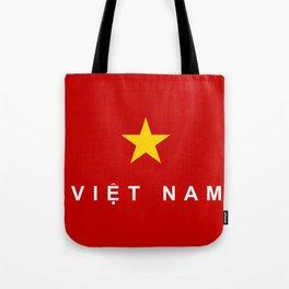 vietnam country flag viet nam name text Tote Bag
