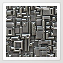 Brushed Metal Techno Plate Art Print