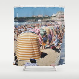 Biarritz Beach Tents Shower Curtain