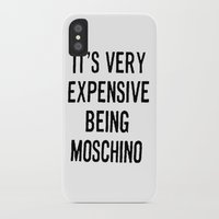 moschino iPhone & iPod Cases featuring It's Very Expensive Being Moschino by RickyRicardo787