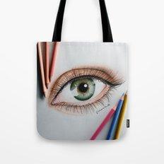 Eye drawing Tote Bag