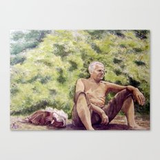 Papa, miss you! Canvas Print