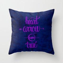 The heart is an arrow Throw Pillow