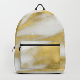 Marble - Gold Marble on White Pattern Backpack