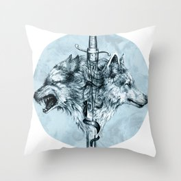 Dire Wolf Throw Pillow