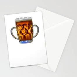 Never Spill Your Beer Stationery Cards