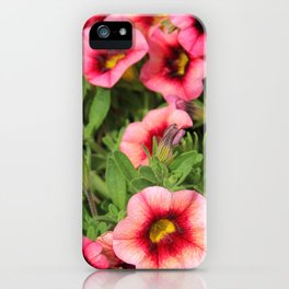 Red Pink Flowers iPhone Case