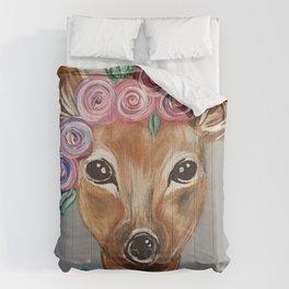 Oh Deer!  Fawn Painting Deer Print Comforters