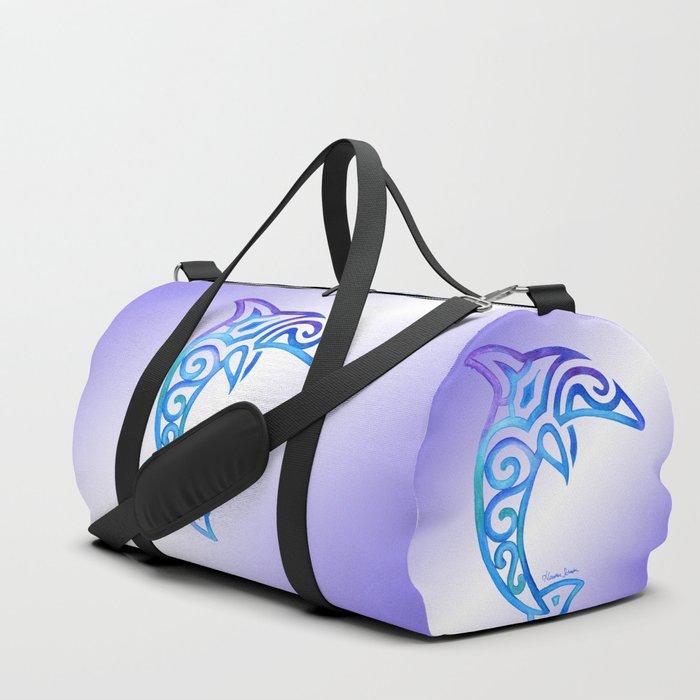 e7ba78dfad Tribal Dolphin Duffle Bag by artsytoocreations