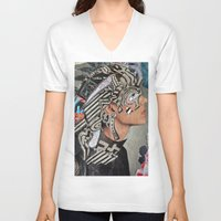 master chief V-neck T-shirts featuring Chief by Katy Hirschfeld