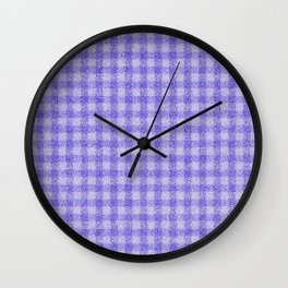 Nappy Faux Velvet Gingham in Lavender on Lilac Wall Clock