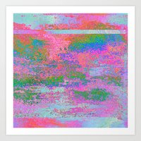 08-12-13 (Building Pink Glitch) Art Print