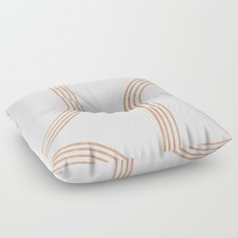 Mid Century Modern 1 - Geometrical Abstract - Minimal Print - Terracotta Abstract - Burnt Sienna Floor Pillow
