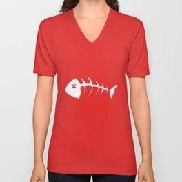 Fish bone Unisex V-Neck