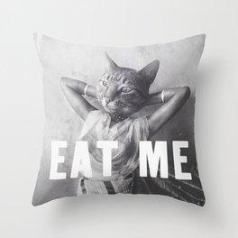 EAT ME - Cat Throw Pillow