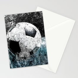 Modern soccer version 1 Stationery Cards