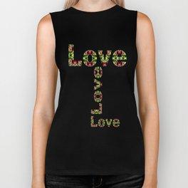 Typography Love Biker Tank