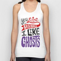 baseball Tank Tops featuring Baseball, Ghosts by Chris Piascik