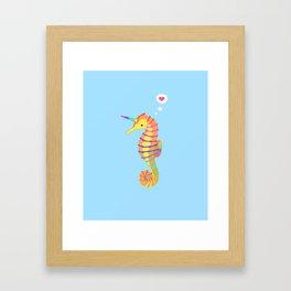 Sea-Unicorn Framed Art Print