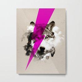 Wolf Rocks Metal Print