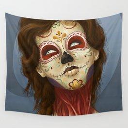 Feliz día de los Muertos Wall Tapestry