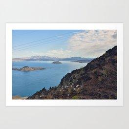 Blue Water on Lake Mead Art Print