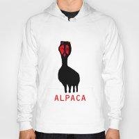 alpaca Hoodies featuring ALPACA by FUNCIT