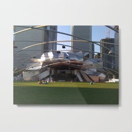 Chicago Lawned Metal Print
