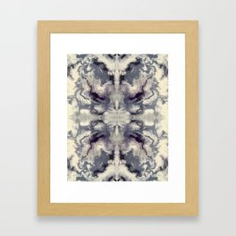 Psychedelic Purple Marble Framed Art Print