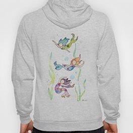 Watercolor Mermaids Hoody
