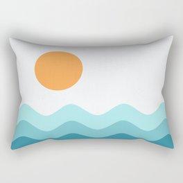 Abstract Landcape 14 Portrait Rectangular Pillow