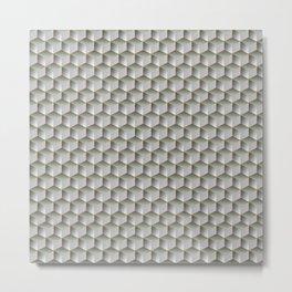 Silver Perls cubes Metal Print