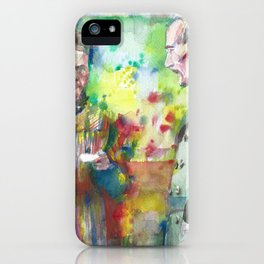 MARIE and PIERRE CURIE - watercolor portrait iPhone Case