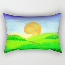 landscape sunrise Rectangular Pillow