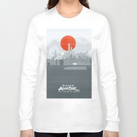 legend of korra Long Sleeve T-shirts featuring Avatar The Legend of Korra Poster by Fabio Castro