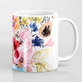 Floral Bouquet in a Blue Vase Coffee Mug