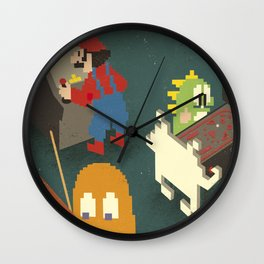Retro Games Wall Clock