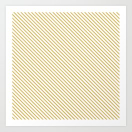 Spicy Mustard Stripe Art Print
