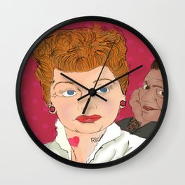 Lucy and Ricky Modern Wall Clock