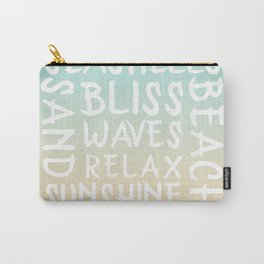 Watercolor Typography with a beach house flair Carry-All Pouch