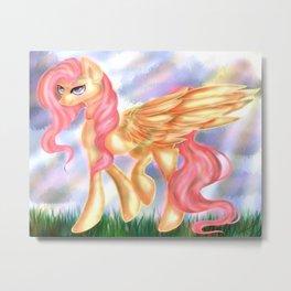Adult Fluttershy Metal Print