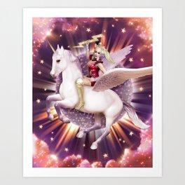 Andora: Drag Queen Riding a Unicorn Art Print