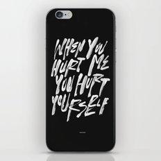 HURT URSELF iPhone Skin