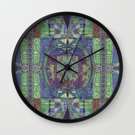 Geometric Futuristic Quilt 2: Calm Surrender Wall Clock