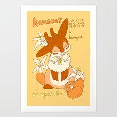 Jackalope and Kumquat Art Print