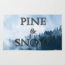 PINE AND SNOW | THRONE OF GLASS SERIES BY SARAH J. MAAS Rug