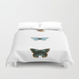 Antique Butterflies I Duvet Cover